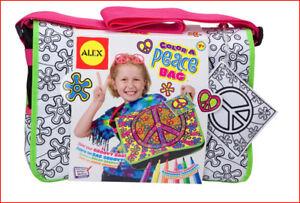 Alex-Create-a-UNIQUE-MESSENGER-Retro-Style-PEACE-Bag-Art-Craft-Color-NEW