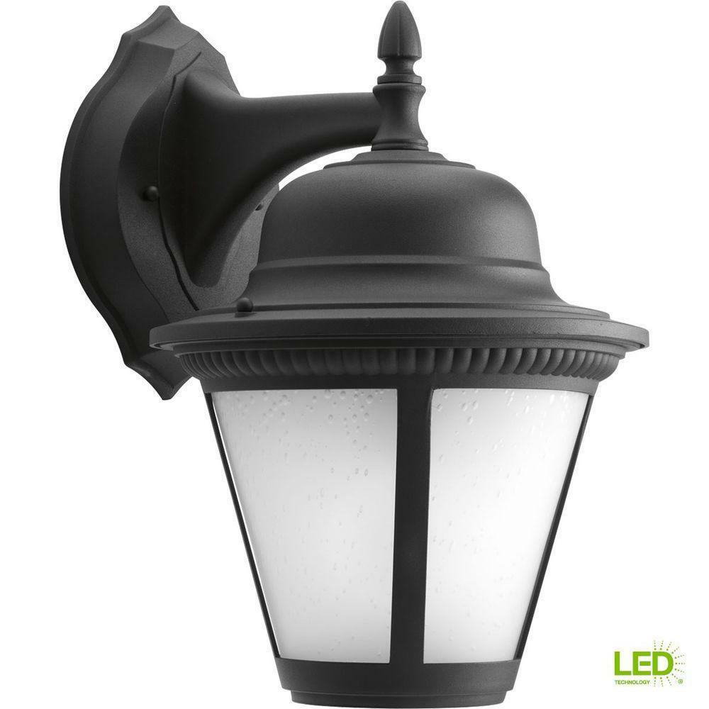 Progreso iluminación Westport Collection 1 Luz LED De Parojo Linterna Al Aire Libre Negro