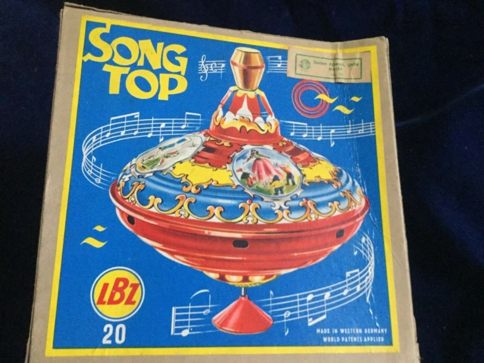Vintage LBZ Spinning Top  with Original Box