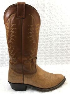 Men-039-s-NOCONA-Western-Tan-Leather-Boots-Size-7C