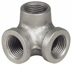 "1/2"" side outlet elbow deg 90°galvanized malleable iron"