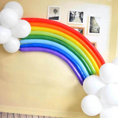Eg /_ 25 Stk Diy Regenbogen Latex Ballon Hochzeit-Geburtstag Party Dekor Zubehör