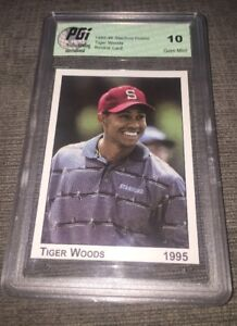 Details About 1995 Tiger Woods Stanford Pre Rookie Card Pgi 10 Golf Pga Rare Pre Rookie Nike