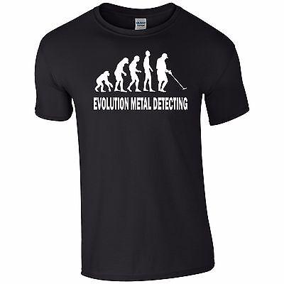 Evoluzione Metal Detector Divertente T-shirt Top Tumblr Novità Regalo Babbo Natale Segreto-