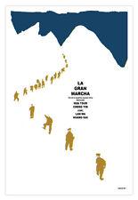Cuban movie Poster for film.Great MARCH.Gran Marcha.China Hua Tsun.Art design