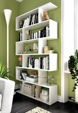 Ciara Living Room 6 Tier Bookcase Room Divider Display Shelf Unit in