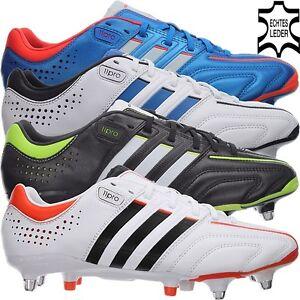 sale retailer 03ab6 5eb83 Das Bild wird geladen Adidas-ADIPURE-11PRO-XTRX-SG -Leder-Fussballschuhe-Stollen-