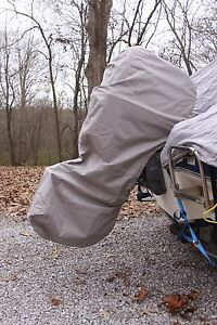 NEW GREY VORTEX COMPLETE OUTBOARD MOTOR COVER 'HOODIE' 60-90 HP