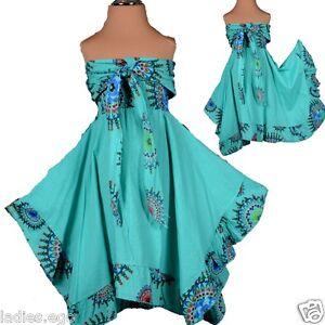 Uni Fille Rêve D'été Bout Tunique Robe Superposé Patchwork 110 116 5 6 Turquoise-afficher Le Titre D'origine