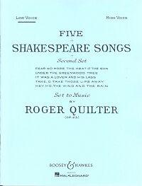 Ambitieus Quilter Shakespeare Songs (5) Op23 Low Voice Om Zowel Thuis Als In Het Buitenland Bekend Te Zijn Voor Uitstekende Afwerking, Bekwaam Breien En Een Elegant Ontwerp