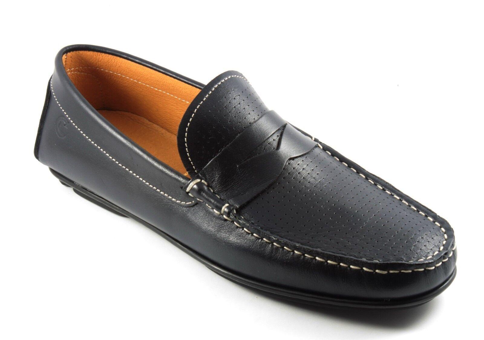 11831 VALLEgreen ARIA CONDIZIONATA shoes men MOCASSINI PELLE blue n. 40