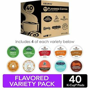 Keurig Flavored Coffee Collection Variety Pack Single Serve K-Cup Pods 40 Count