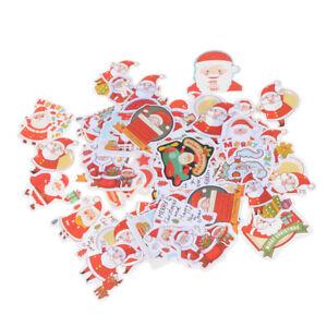 48x Merry Christmas Cake Decorative Sticker Scrapbook Diy Diary Stickers Gift TS