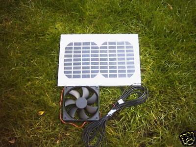 Hipower Solaire 5 W Ventilation Kit, 14 cm, Ventilateur pour maison de vacances, jardin bureau, hangar