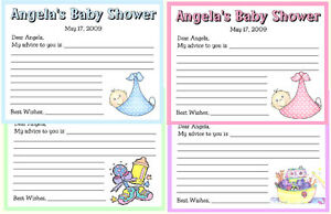 12-PERSONALIZED-BABY-SHOWER-FAVORS-ADVICE-CARDS