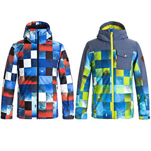 bc6e36350 Quiksilver Mission Printed Block Children s Snowboard Jacket Ski ...