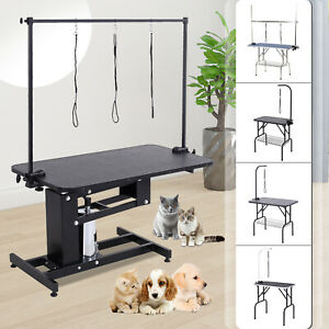 32-034-36-034-39-034-47-034-Adjustable-Pet-Dog-Grooming-Table-w-Arm-Noose-Tray-Basket-Opt