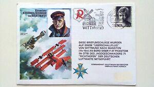 GERMANY-FDC-1977-RAMF-HA-Zufahrt-zur-Nordsee-Rittmeister-von-Richthofen