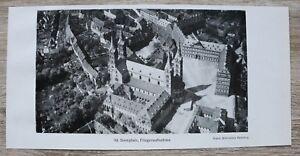 1-Blatt-1929-Bamberg-Fliegeraufnahme-Domplatz-Dom-Architektur-Strasse-Ofr-23x11cm