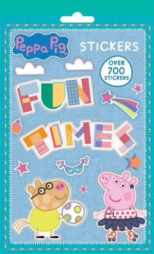 Peppa Pig stickers Livre 700 Collant photo feuilles George TV Personnage Movie Toys