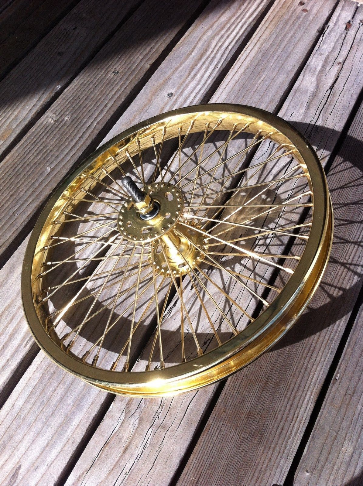 BICYCLE 16  FRONT WHEEL gold  W   52 SPOKES CRUISER LOWRIDER BIKES  cheapest