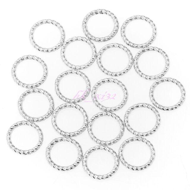 Wholesale 200Pcs Tibetan Silver Copper Tone Twist-Ring Charm For Jewelry Making