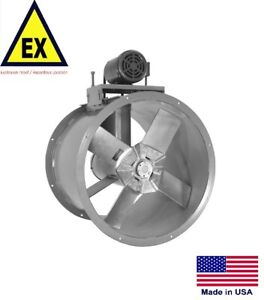 Details About Tube Axial Duct Fan Explosion Proof 20 115230v 34 Hp 6395 Cfm