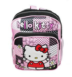 3603cd8d9db5 Sanrio Hello Kitty Dot Mini Backpack School   Book Bag Pink Black ...