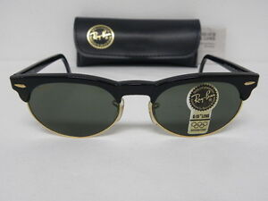 f412a5914b40 New Vintage B&L Ray Ban Oval Max Black W1266 Wayfarer Clubmaster ...