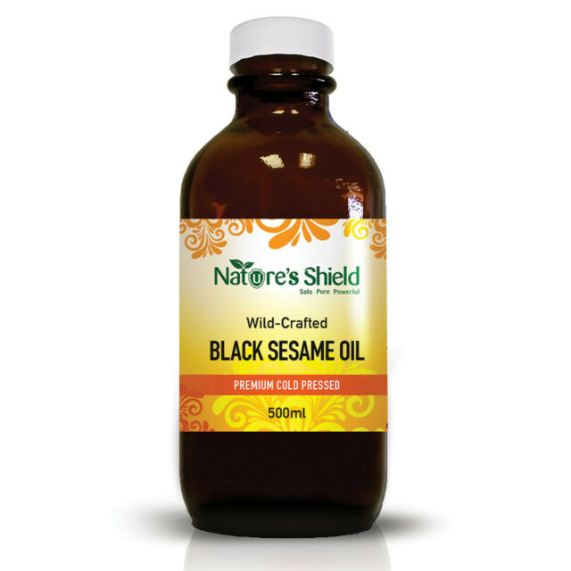 Nature's Shield Wild-Crafted Black Sesame Oil 500mL