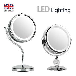 Led Round Vanity Lights : Round Free Standing Magnifying LED Light Make Up Vanity Dressing Table Mirror eBay