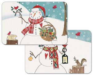 Bosque-Muneco-De-Nieve-Navidad-con-Cardinals-decofoam-REVERSIBLE
