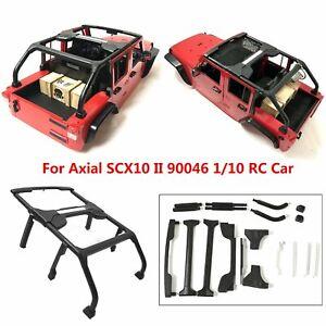 Para-Axial-SCX10-II-90046-1-10-RC-Crawler-Jeep-Wrangler-Cuerpo-Shell-Jaula-Set