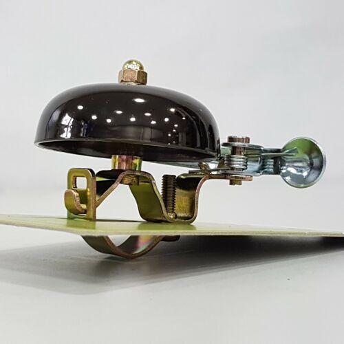 Fits 22.2-25.4mm Handlebar Crane Suzu Brass Bicycle Bell w// Steel Band Mount