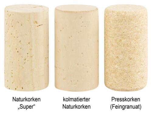 100 à 250 stérile dans des emballages bouchons bouchon bouchon 45x24mm nature bouchons