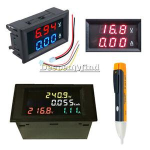 100A-LCD-Voltmeter-Ammeter-AC-80-300V-200-450V-Volt-Amp-Power-Kwh-Panel-Meter