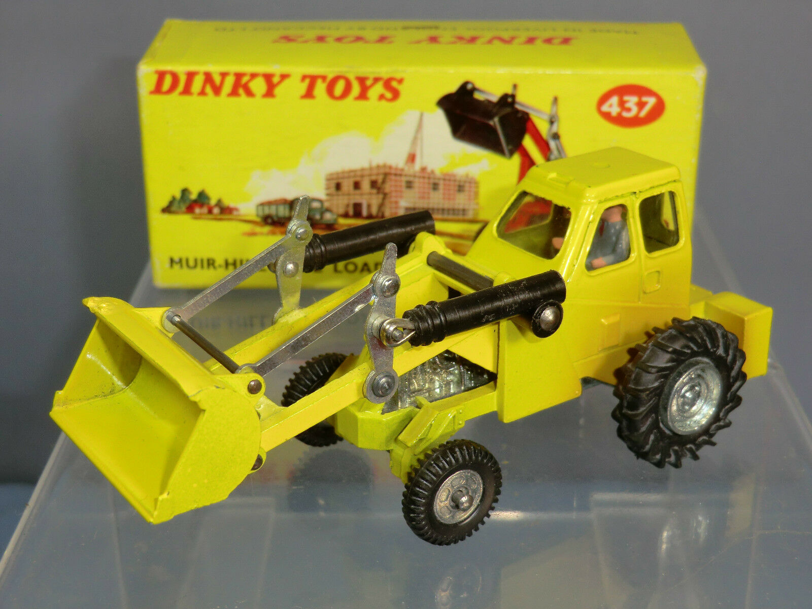 DINKY TOY'S No.437  MUIR HILL   2 WL LOADER TAYLOR WOODROW ( YELLOW )  VN MIB