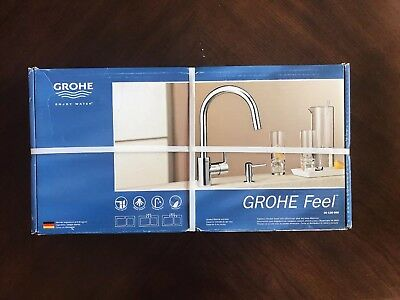 Grohe Feel 30 126 000 Pull Out Kitchen Faucet Chrome Made In Portugal Ws Dispnew Ebay