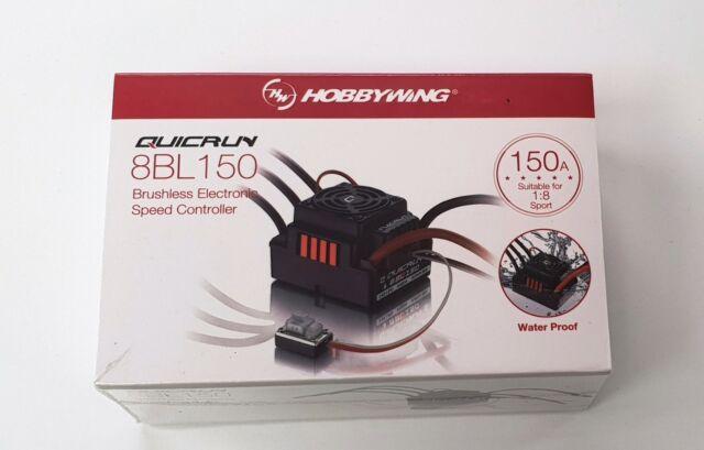 Hobbywing QUICRUN WP 8BL150 Sensorless Brushless 150A ESC SpeedController 1/8 UK