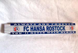 FC-Hansa-Rostock-Zollstock-034-Always-and-Forever-034-2m-Holz-Neu-Lizenz-Raritaet