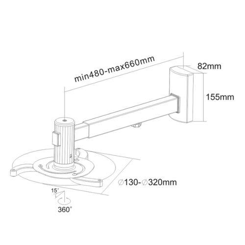 Heimkino Set Leinwand 240x180cm Beamer Projektor Halterung Rollleinwand 3D 4K