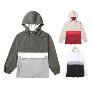 Beautiful-Giant-Men-039-s-Hooded-Lightweight-Windbreaker-Zip-Hoodie-Pullover-Jacket