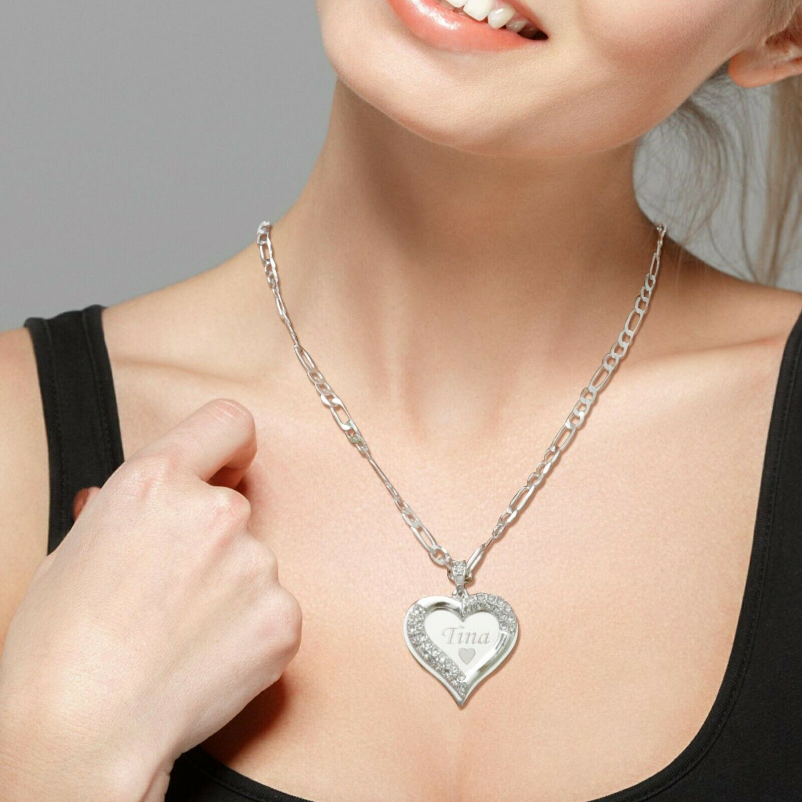 925 Sterling Silver AMY Name Necklace Womens Pendant Gift Ready Stock