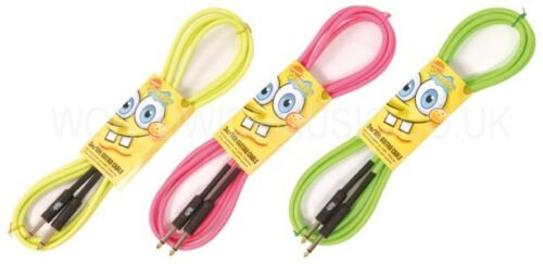 Spongebob Squarepants NEON Guitar Instrument Lead with Colour Choice 3 Metres
