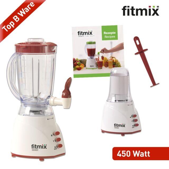 Fitmix Mixer 450 W rot B WARE Smoothie Maker Zapfhahn Standmixer Mediashop