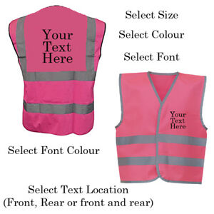 Personalised-Kids-Childs-Hi-Vis-Safety-Vest-Jacket-High-Visibility-Hi-Viz