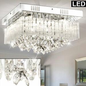 Details zu Luxus LED Decken Lampe Schlafzimmer Strahler Flur Kristall Chrom  Big Light