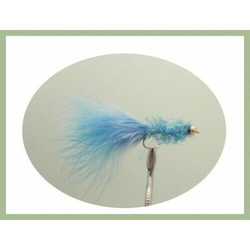 Goldhead Trout Flies Fishing Flies 6 Gold Head Blue Fritz Size 10 Lures