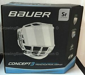 1b93426a610 Bauer Concept 3 Full Shield Visor! SR Hockey Helmet Visor   Bag ...