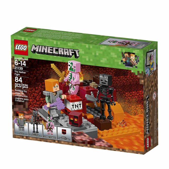LEGO® Minecraft The Nether Fight Building Set 21139 NEW Toys  84 pcs